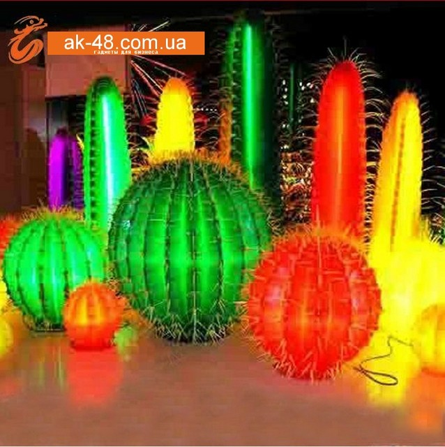Светящееся дерево LED в виде кактуса и др. .