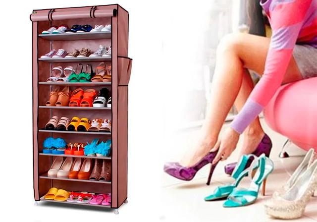 Тканевый шкаф Shoe Rack and Wardrobe T-1099
