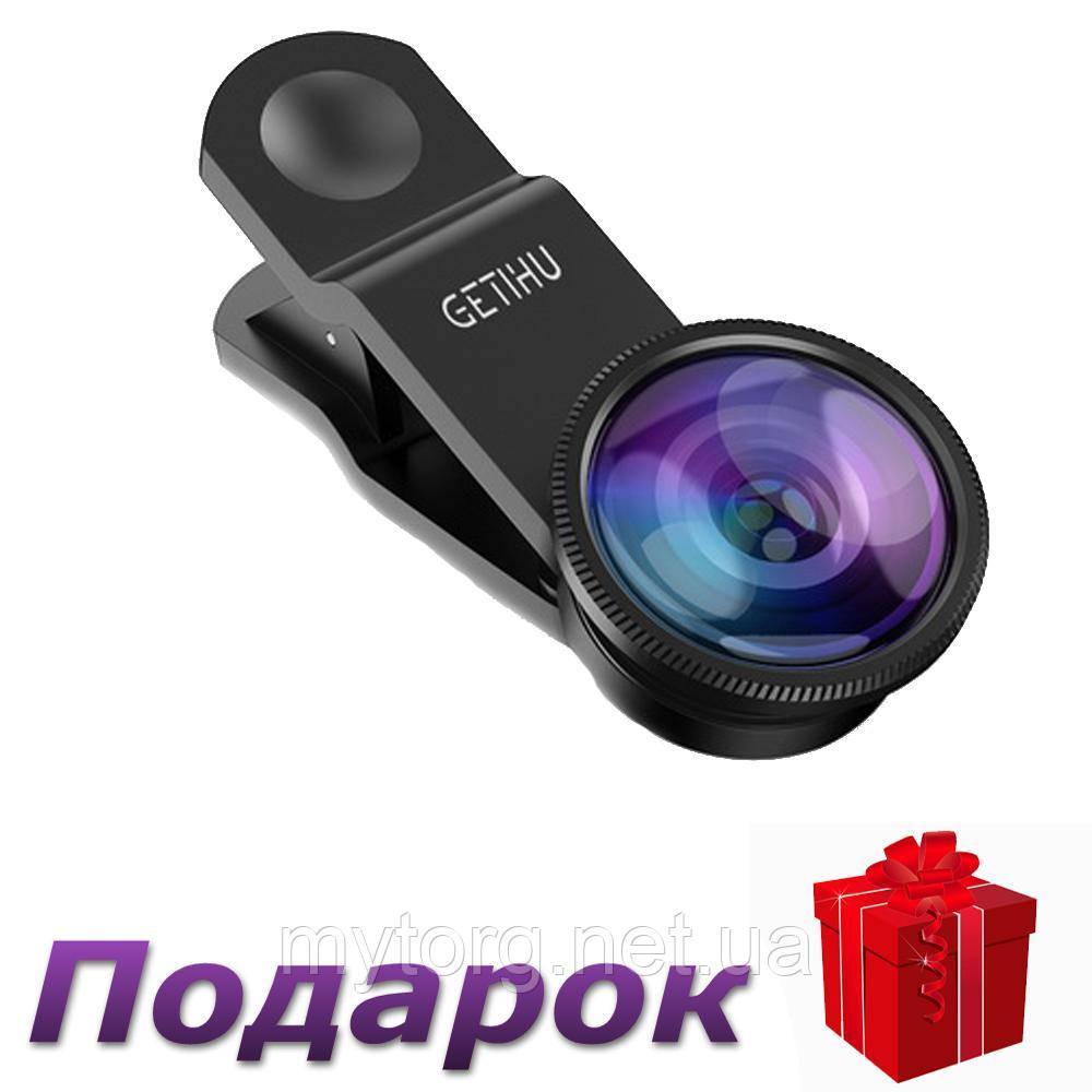 Объективы для смартфонов GETIHU Набор из 3 линз  Черный