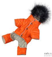 Зимний комбинезон на меху с капюшоном для собак Dogs Bomba