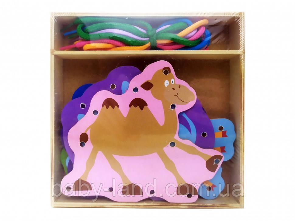 Дерев'яна іграшка-Шнурівка MD 2352 (Тварини)