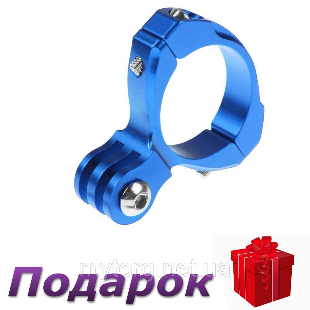 Крепление на руль для экшн камеры Gopro алюминиевый  Синий
