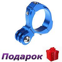 Крепление на руль для экшн камеры Gopro алюминиевый  Синий, фото 1