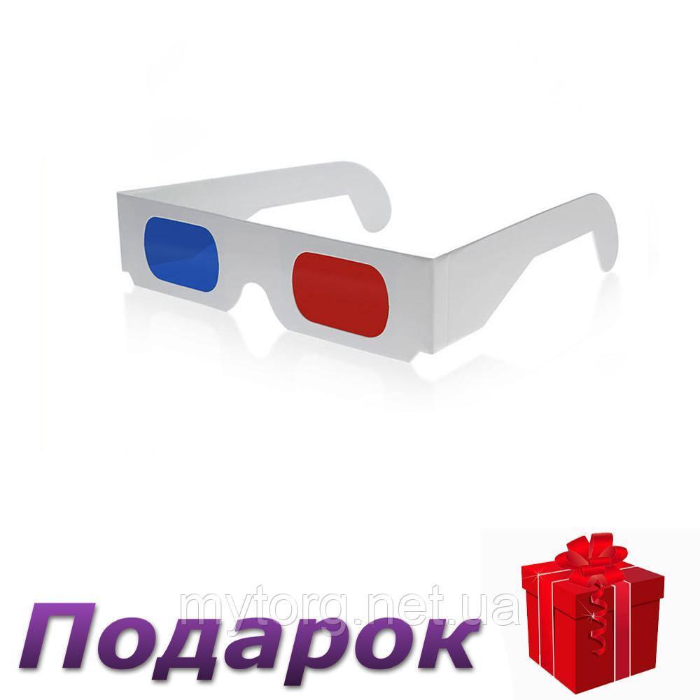 Картонные анаглифные 3D очки красный/синий