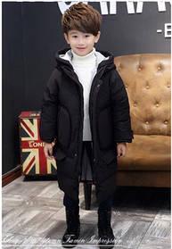 Зимний детский длинный пуховик на ребёнка на зиму