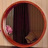 "Круглое зеркало деревянной рамке/Диаметр 590 мм/ Зеркало в дереве цвет ""Вишня""/ Код MDD 2.1/4, фото 2"
