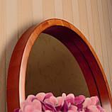 "Круглое зеркало деревянной рамке/Диаметр 590 мм/ Зеркало в дереве цвет ""Вишня""/ Код MDD 2.1/4, фото 3"