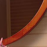 "Круглое зеркало деревянной рамке/Диаметр 590 мм/ Зеркало в дереве цвет ""Вишня""/ Код MDD 2.1/4, фото 4"