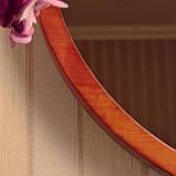 "Круглое зеркало деревянной рамке/Диаметр 590 мм/ Зеркало в дереве цвет ""Вишня""/ Код MDD 2.1/4, фото 5"