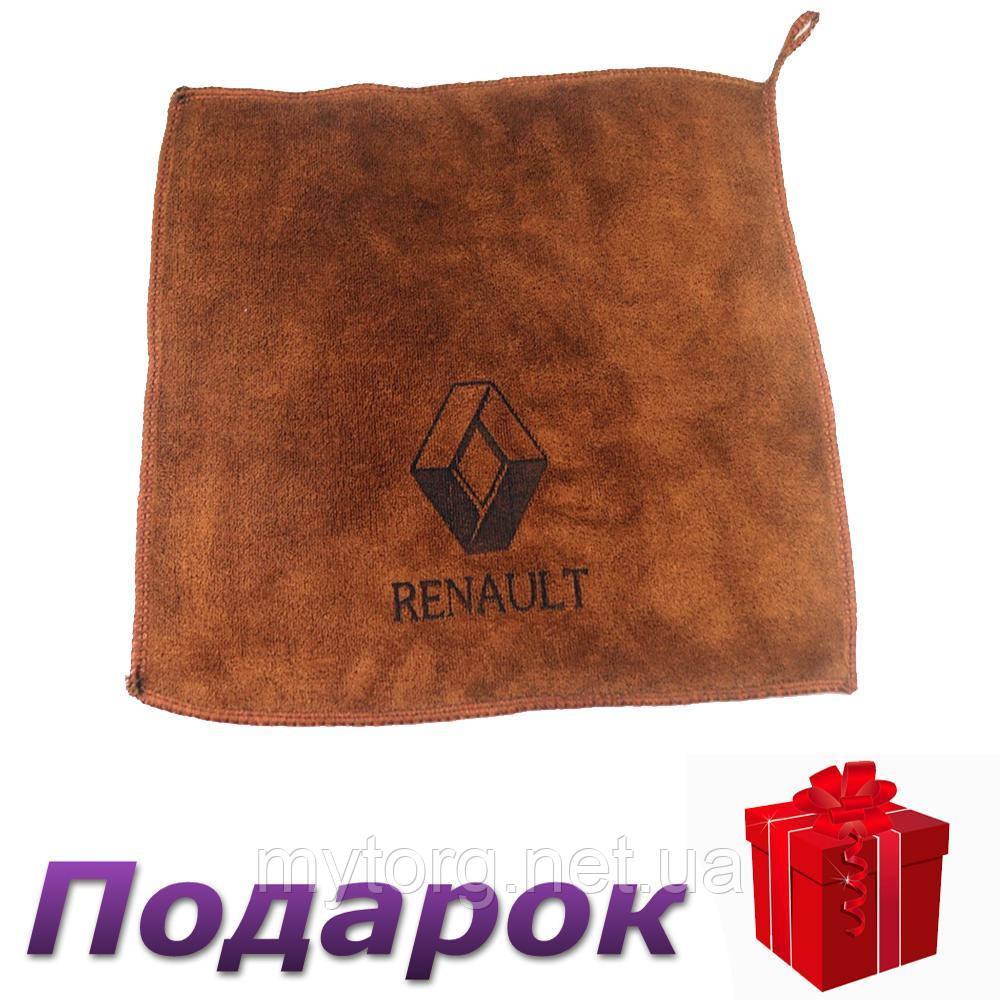 Полотенце для автомобиля с логотипом микрофибра 30 х 30 см Renault
