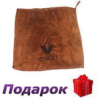 Полотенце для автомобиля с логотипом микрофибра 30 х 30 см Renault, фото 1