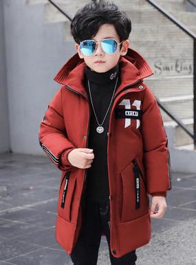 Длинная детская курточка зимний пуховик на ребенка HBA