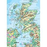 United Kingdom. Физическая  карта. Политико-административная карта, м-б 1:1 500 000 (на картоне и планках), фото 2