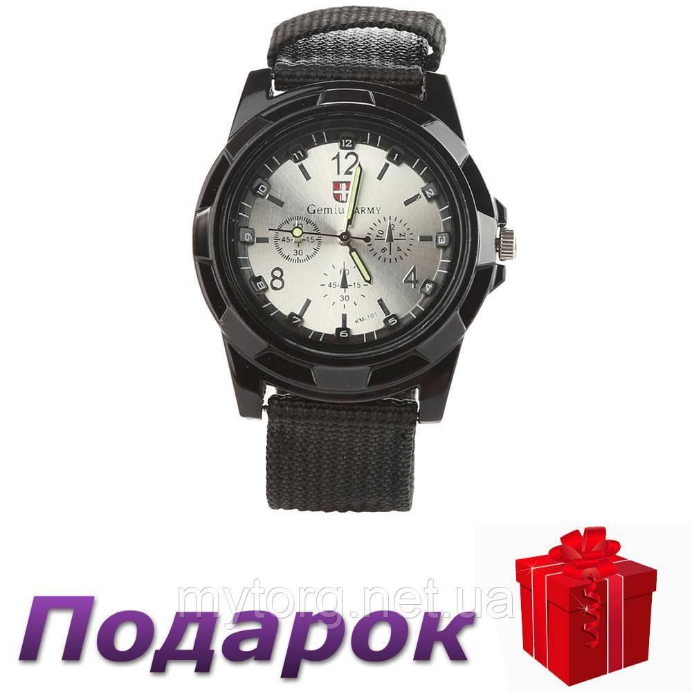 Мужские часы Swiss Army  Черный с серебристым