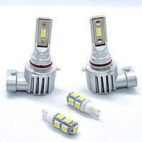 Комплект автомобильных светодиодных LED ламп для фар авто Sho-Me F3 HB3 9005 8000Lm 6500K Головной свет Лед, фото 1