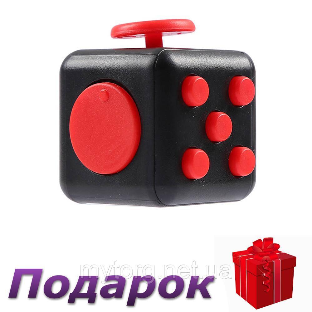 Игрушка антистресс Кубик  Черный с красным