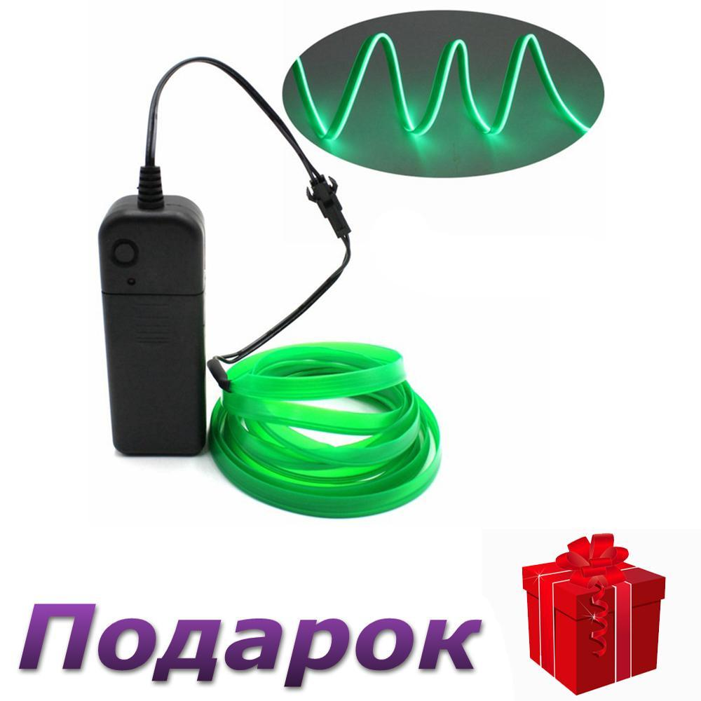 Светодиодная неоновая лента с контроллером Apluses 3 м Зеленый