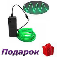 Светодиодная неоновая лента с контроллером Apluses 3 м Зеленый, фото 1