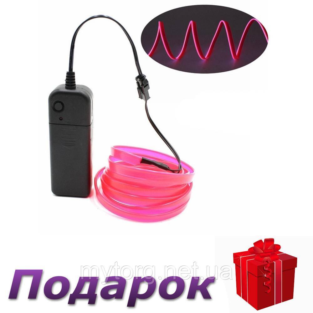 Светодиодная неоновая лента с контроллером Apluses 3 м Розовый