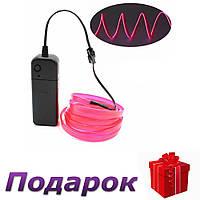 Светодиодная неоновая лента с контроллером Apluses 3 м Розовый, фото 1