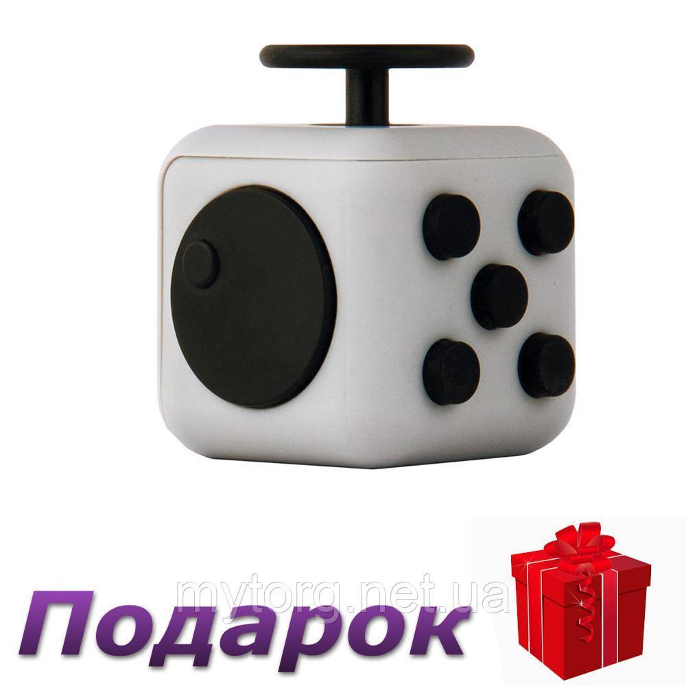Игрушка антистресс Кубик  Серый с черным