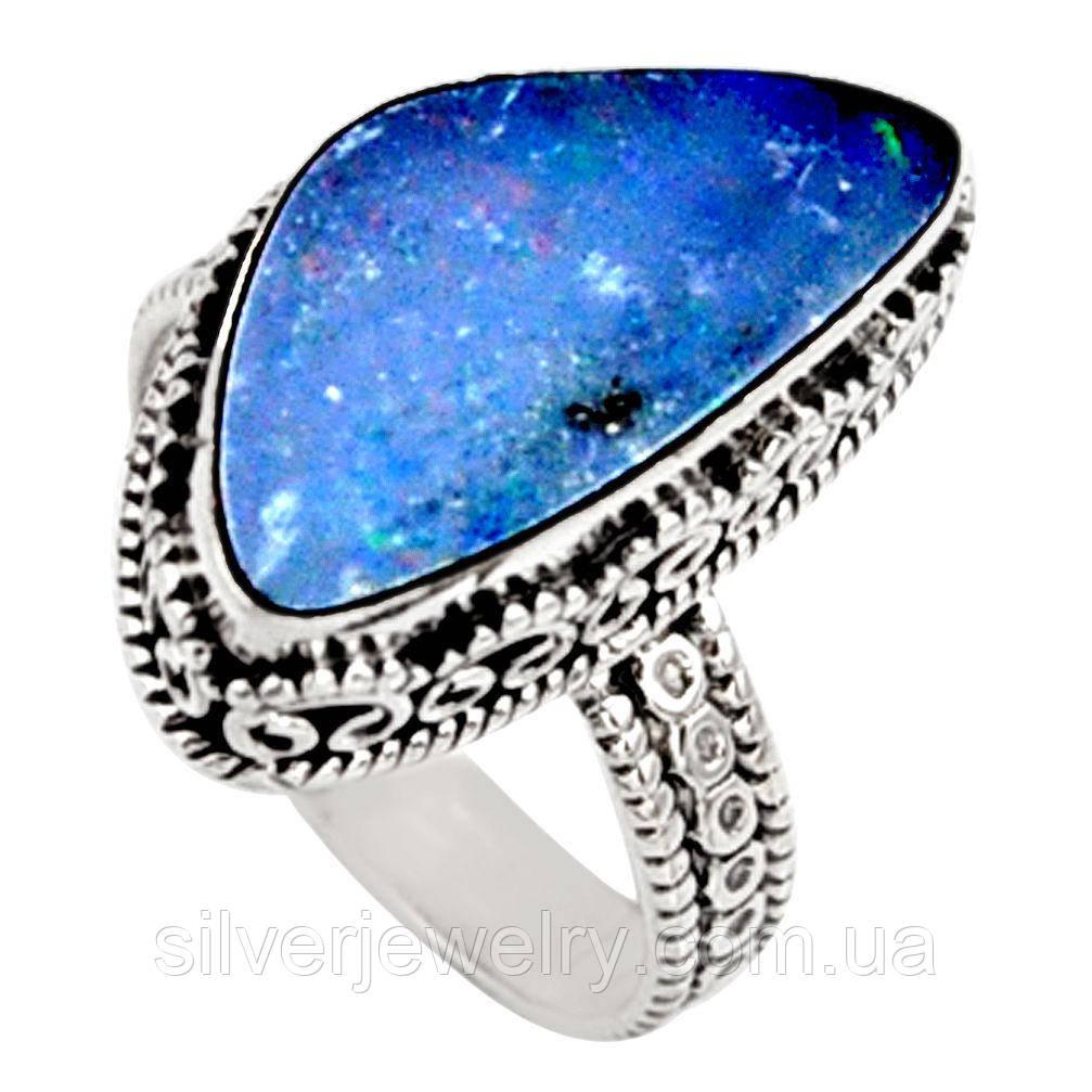 Серебряное кольцо с ОПАЛОМ  (натуральный!!!), серебро 925 пр. Размер 18,5