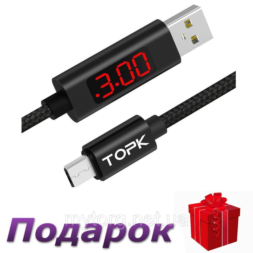 Зарядный кабель Topk Type-C для Samsung, Xiaomi, LG  Красный