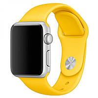 Силиконовый ремешок M/L для Apple Watch 42 / 44 | Yellow | DK