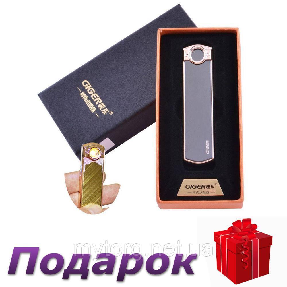 USB зажигалка GIGER HL-60 В подарочной упаковке Спираль накаливания Черный