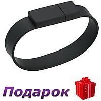 Флешка браслет BiNful 64 GB USB 2.0 силиконовая 64 Gb Черный, фото 1