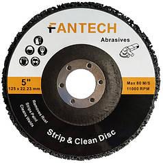 Зачистной круг Коралл 125х22.2 Fantech чёрный