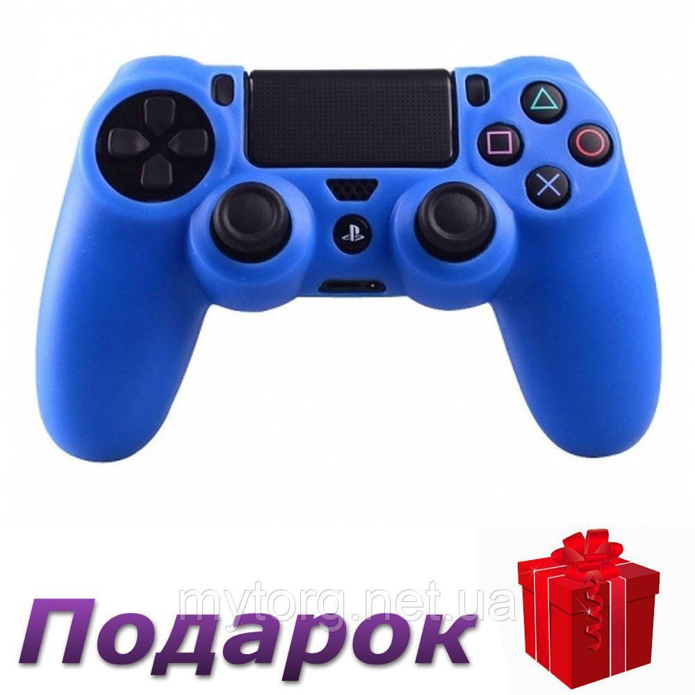 Силиконовый чехол для Sony Playstation 4  Синий