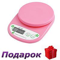 Весы кухонные QZ-161, 5кг (1г)  Розовый, фото 1