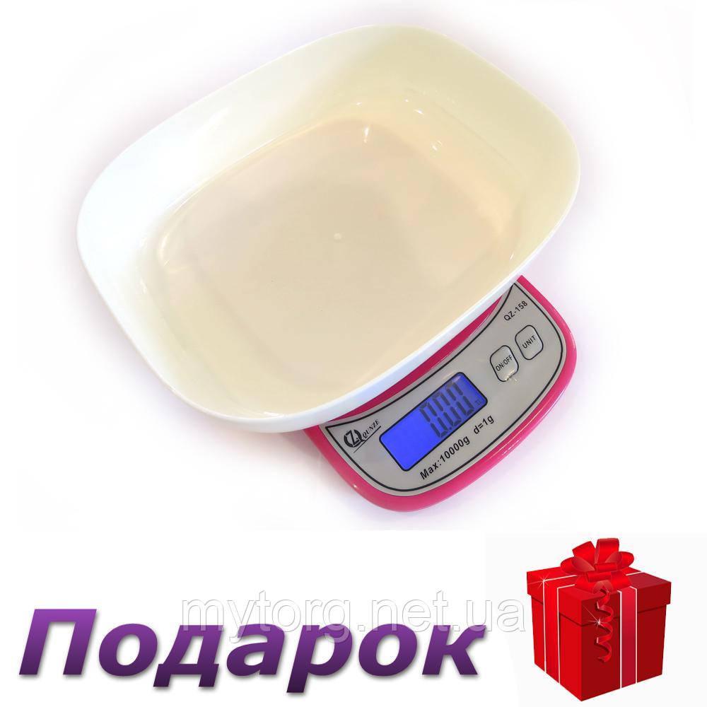 Кухонные Весы QZ-158, 10кг (1г)  Розовый
