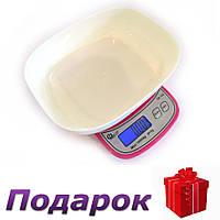 Кухонные Весы QZ-158, 10кг (1г)  Розовый, фото 1