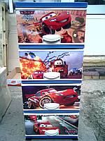 Комод пластиковый на 4 ящика, Тачки 5,  Elif Турция
