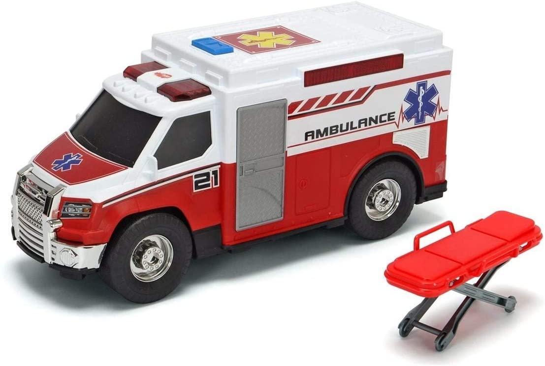 """Функциональная машина """"Медицинская помощь"""" с носилками, звук. и свет. эффектами, 30 см, Dickie toys 3306007"""