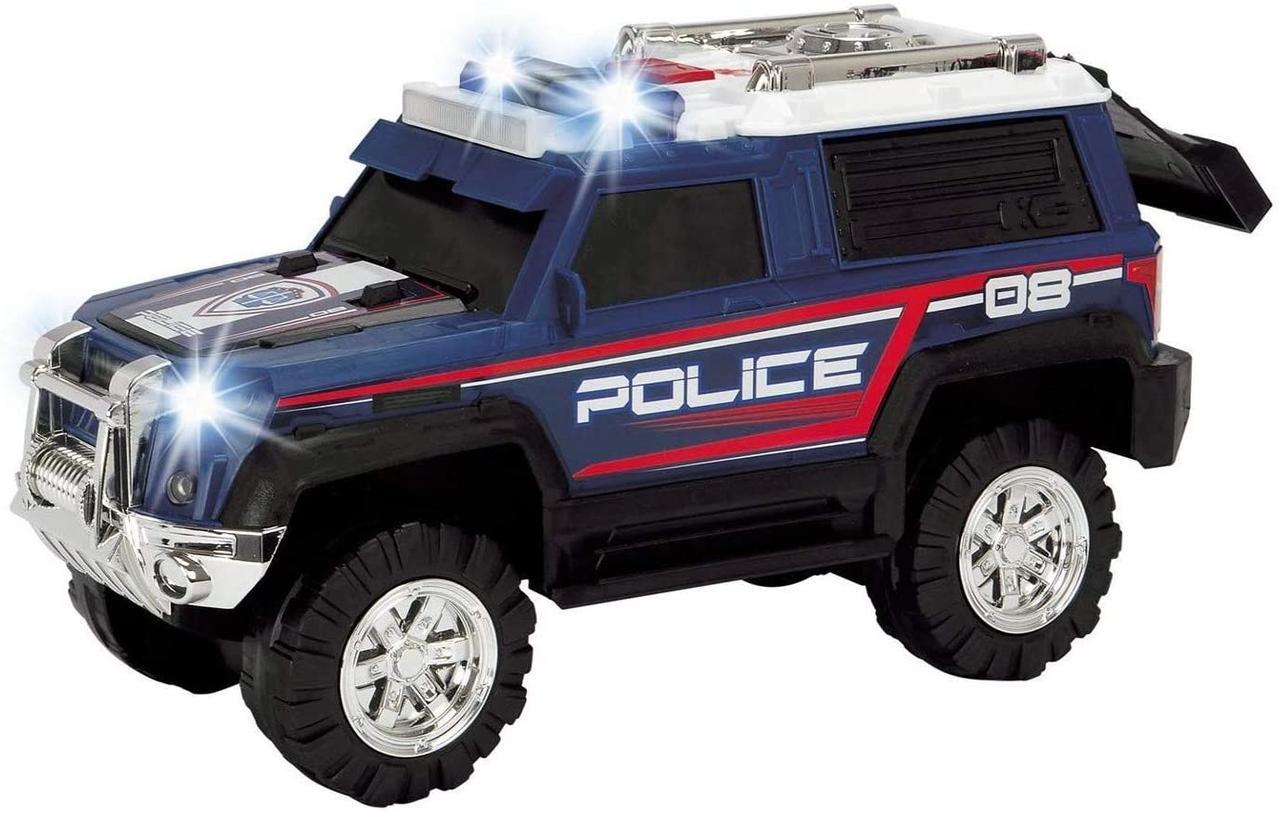 """Функциональная машина """"Полиция. Джип"""" со звуковыми и световыми эффектами, 30 см, Dickie toys 3306008"""