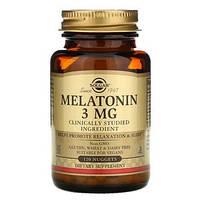 Мелатонин, Solgar,  3 мг, 120 жевательных таблеток, фото 1