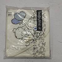 Полотенце с уголком и варежкой для купания новорожденного (стразы, вышивка)