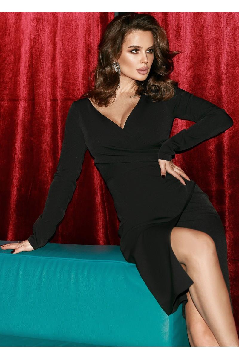 Красивое черное коктейльное платье   42,44,46,48 размер