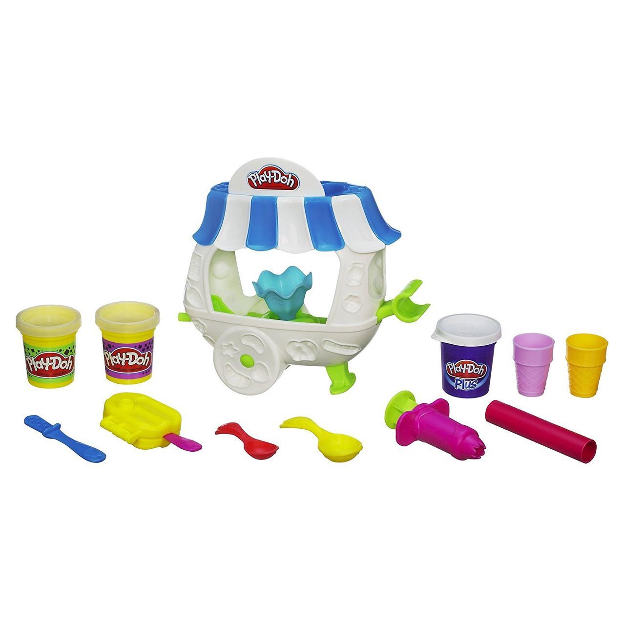 Набор Плэй до Фургончик Мороженого (Play-Doh Sweet Shoppe Ice Cream Sundae Cart Playset)