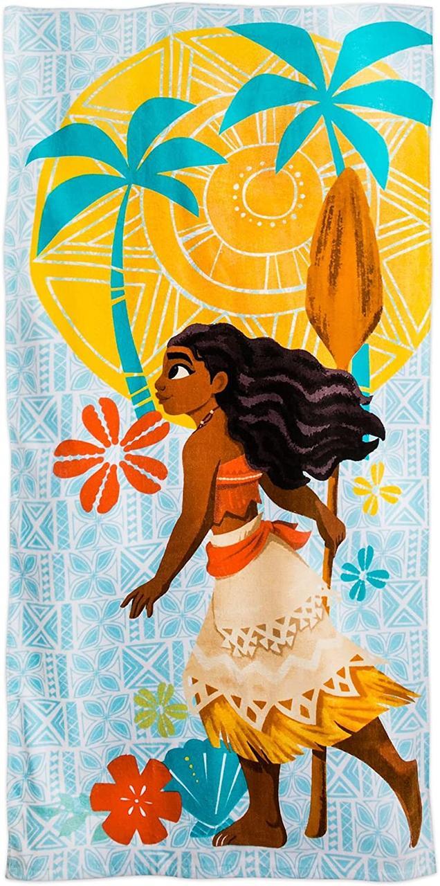 Детское пляжное полотенце Моана Ваяна  Moana Beach Towel for Kids