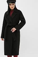 Классическое зимнее черное пальто