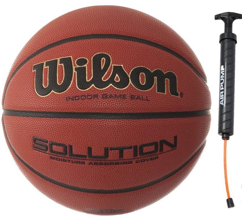 Мяч баскетбольный Wilson Solution FIBA размер 6 композитная кожа коричневый (B0686X)