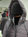"""Довга зимова куртка пальто """"Багіра"""", розмір 56, фото 10"""