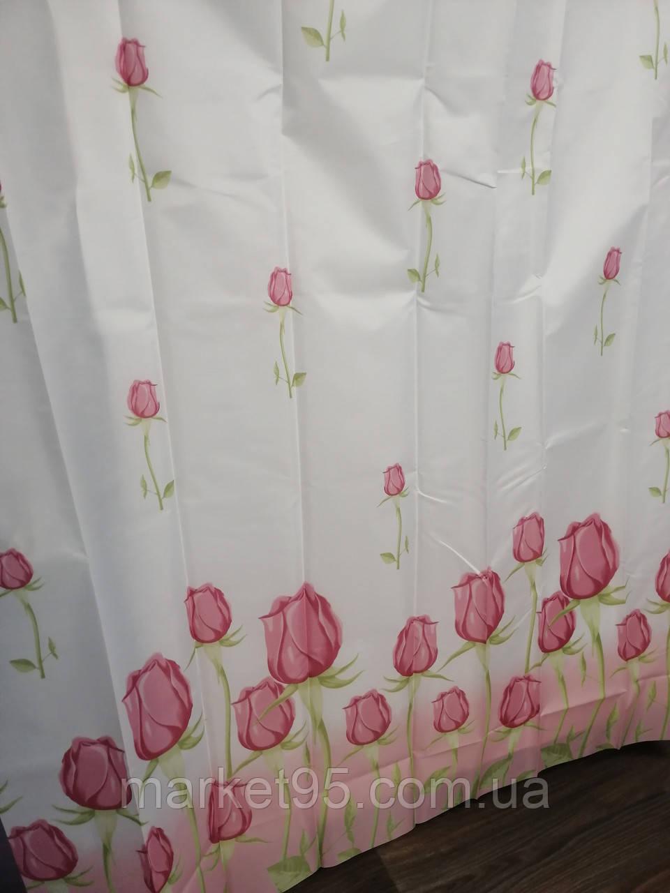 Штора для ванної душа  тканинна 180х200см