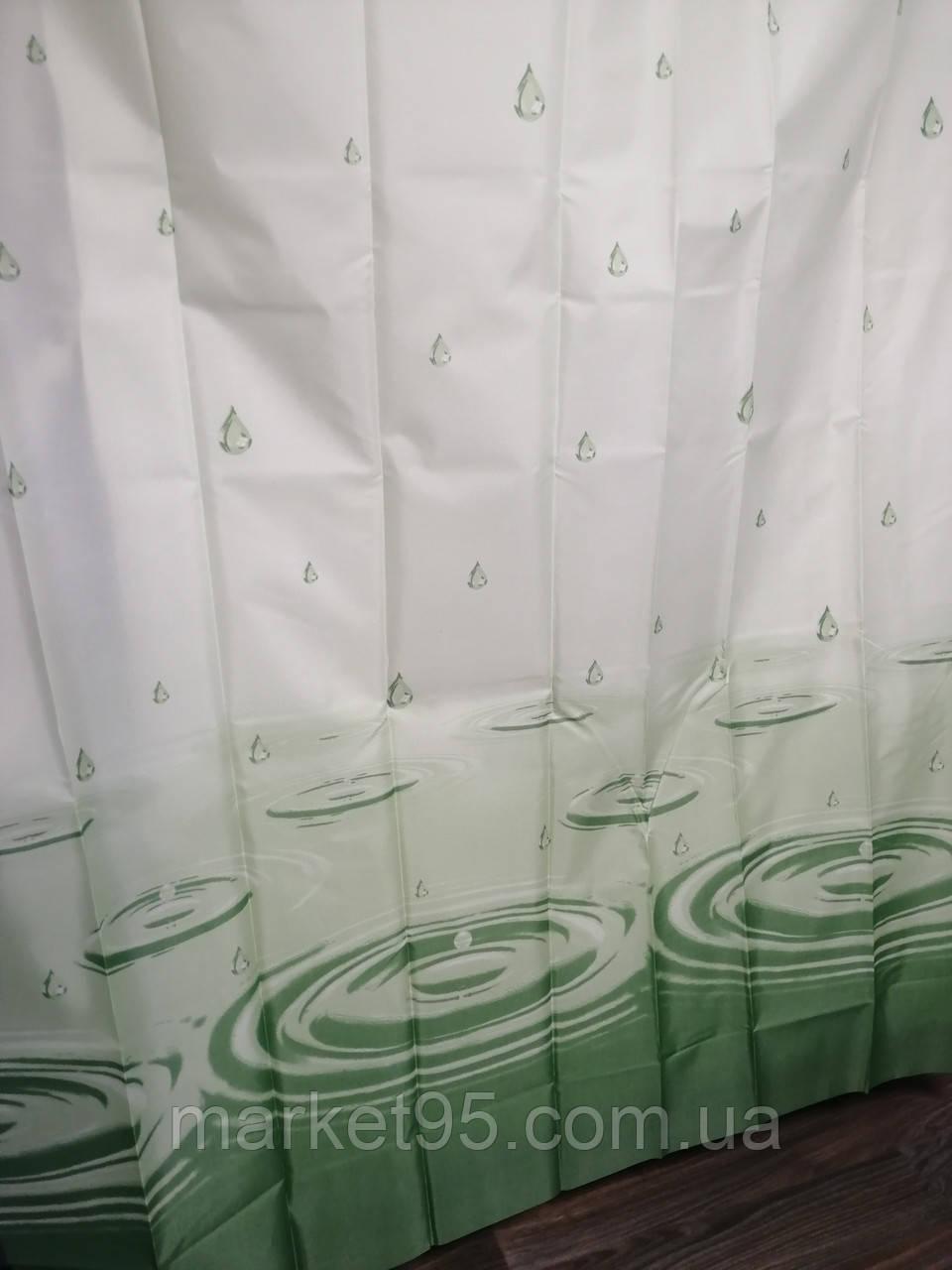 Штора для ванной душа тканевая 180х200см