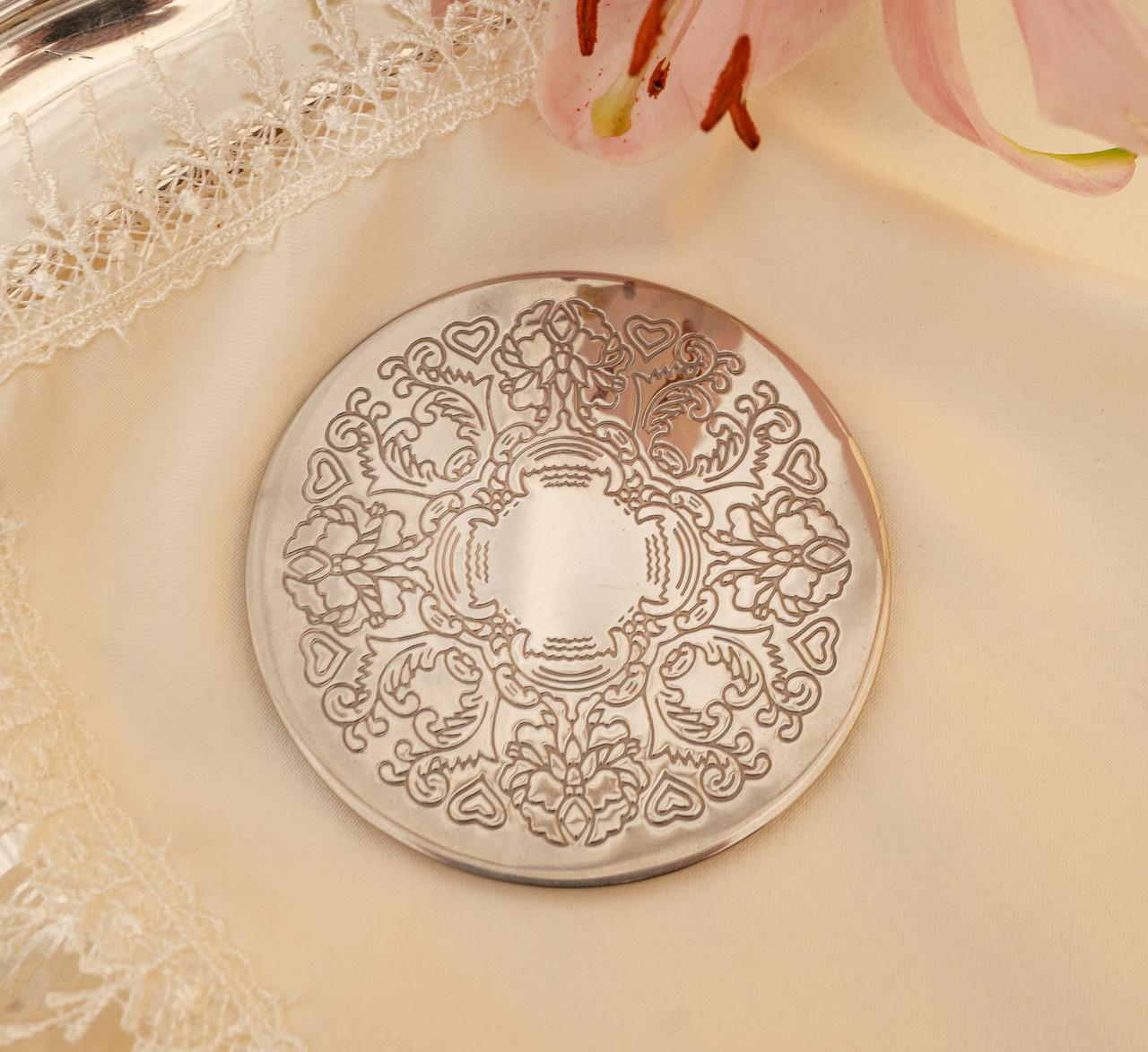 Английская посеребренная подставка под чашку, серебрение, Англия, винтаж