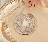 Английская посеребренная подставка под чашку, серебрение, Англия, винтаж, фото 2